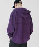 SL Oversized Zip Up Hoodie (Purple)