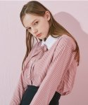 TT RIBBON STRIPE SHIRT_PINK