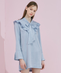 TIE FLILL DRESS_SKYBLUE