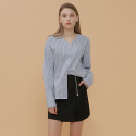 BASIC V-NECK SHIRT_SKY_BLUE