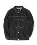 어반스터프() USF SIDE BAR DENIM JACKET BLACK