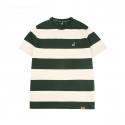 Bold Stripe Short Sleeves T 2525 GREEN
