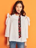 블랭크(BLANK) RIBBON BLOUSE-WH