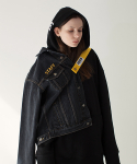 스텝온리() SAFETY BELT DENIM JACKET (BLACK)