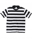 아웃스탠딩(OUTSTANDING) MOTORCYCLE BORDER TEE[BLACK/WHITE]
