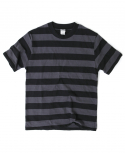 아웃스탠딩(OUTSTANDING) MOTORCYCLE BORDER TEE[BLACK/CHARCOAL]