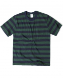 아웃스탠딩(OUTSTANDING) FORERUNNER BORDER TEE[GREEN/NAVY]