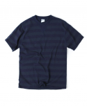 아웃스탠딩(OUTSTANDING) OLDIES INDIGO BORDER TEE[NAVY/CHARCOAL]
