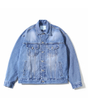 제로() Oversized Denim Jacket (Used Indigo)