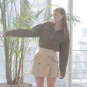 와드로브(WARDROBE) SAFARI POCKET BLOUSE_KHAKI