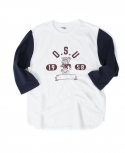 아웃스탠딩(OUTSTANDING) OSU BULLDOG THREE-QUARTER TEE[NAVY]