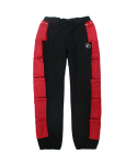 [e by EASY BUSY] MA-1 Side Pocket Pants - Black/Red