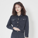 먼지(MUNGE) MUNGE denim jacket_black