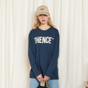 덴스(THENCE) LONG SLEEVE TEE_LOGO_NAVY