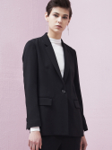 룩캐스트(LOOKAST) BLACK TAILORED SUIT JACKET