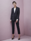 룩캐스트(LOOKAST) NAVY STRIPE TAILORED SUIT SET