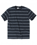 아웃스탠딩(OUTSTANDING) NOTABLE BORDER TEE[BLACK]