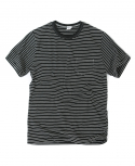 아웃스탠딩(OUTSTANDING) KEEN BORDER TEE[BLACK]