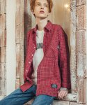 필루미네이트() UNISEX Lush Check shirt-RED