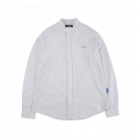캉골(KANGOL) Pencil Stripe Shirts 7024 White
