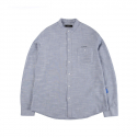 캉골(KANGOL) Pencil Stripe Shirts 7024 Blue