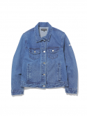 디스이즈네버댓() W Trucker Jacket Blue