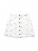 W Button Up Skirt White