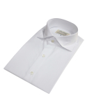 벨리프(BELLIEF) pearl buttons Wide dress shirt (White)_BDS17205
