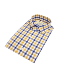 벨리프(BELLIEF) Multi Gingham check shirt (yellow)_BSS17208