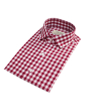 벨리프(BELLIEF) Red Gingham check shirt (red)_BSS17209