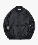 해브 어 굿 타임(HAVE A GOOD TIME) Satin Raglan Jacket - Black
