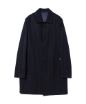 Stripe Mac Coat (navy)_BCS17219