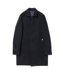 Herringbone Mac coat (navy)_BCS17222