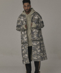 오베르() 17S/S BEIGE CAMO ZIPPER COAT