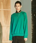 레이트(LEIT) BASIC OVERSIZE SWEATSHIRT GREEN
