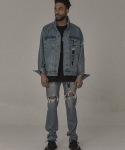 오베르(OVERR) 17S/S WASHING DAMAGE DENIM PANTS