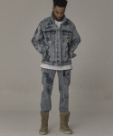 오베르(OVERR) 17S/S PARTIAL BLEACH WASHING DENIM PANTS