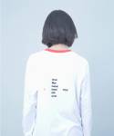 하이노크(HIGHKNOCK) blank long sleeve t shirt - white