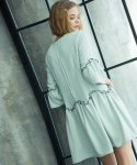 Colored Ruffle Dress_Olive