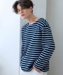 로얄위(THE ROYAL 'WE) Tomorrow Stripe T-shirts Navy