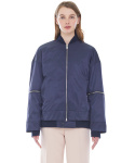 밀로그램() overlap bomber jacket_women - navy