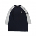캉골(KANGOL) Globe 3/4 Sleeves 6104 Navy