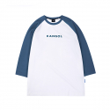 캉골() Text Logo 3/4 Sleeves 6105 Navy