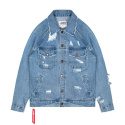 레이든() OVERSIZE RAGLAN DENIM JACKET-LIGHT BLUE
