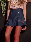 브이브이브이(VVV) VVV DENIM HEART ZIP SKIRT