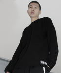 다이르 렌 모드(DAIR LEN MODE) Oversize long sweat shirt (black)