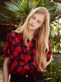 17ss flower printing aloha shirts(red)