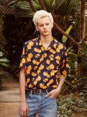 17ss flower printing aloha shirts(yellow)