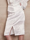 써틴먼스(13MONTH) 17ss satin wringkle skirt(white)