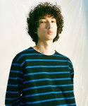 피스피스(PIECEPEACE) STRIPE GHOST LONG SLEEVE BLUE